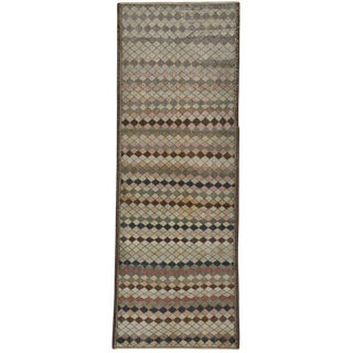 20th Century Turkish Zeki Muren Distressed Sivas Hallway Runner For Sale