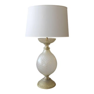 Mid 20th Century Large Murano Barovier & Toso Gold Aventurine Lamp for Marbro Lamp Co. For Sale