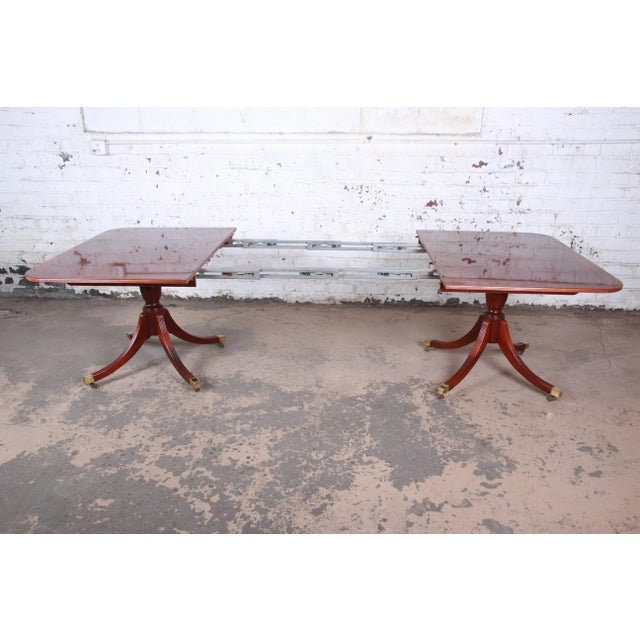 Metal Baker Furniture Historic Charleston Georgian Banded Inlaid Mahogany Dining Set For Sale - Image 7 of 13