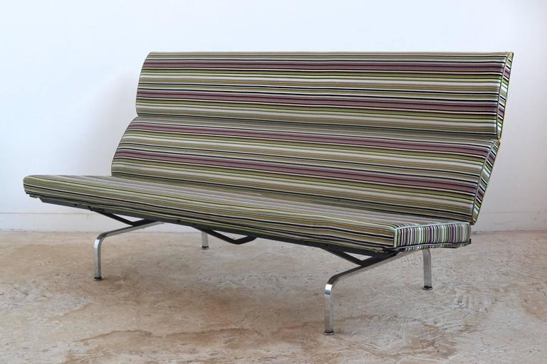 Eames Sofa Compact With Paul Smith Fabric By Herman Miller