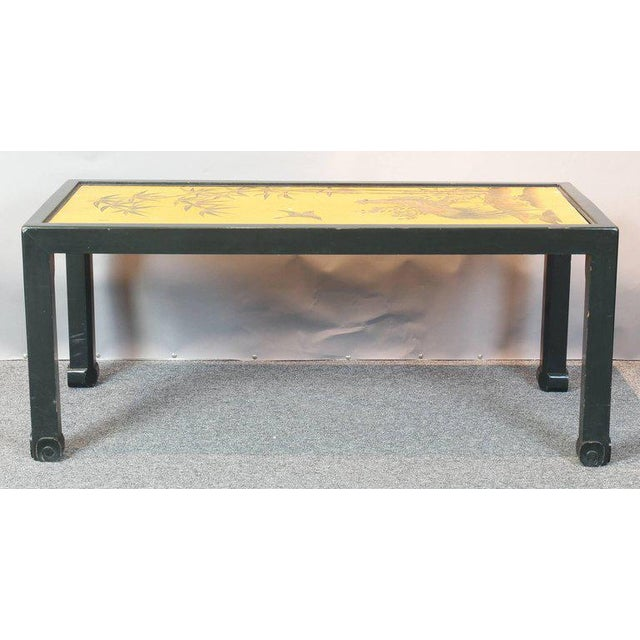 Paint Chinoiserie Lacquered Cocktail Table For Sale - Image 7 of 11