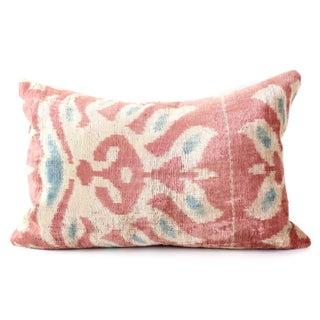 Pink Silk Ikat Velvet Pillow Preview