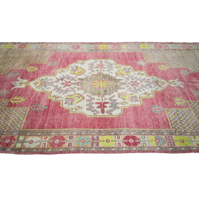 Turkish 1960s Vintage Turkish Konya Wool Rug- 5′ × 13′7″ For Sale - Image 3 of 7