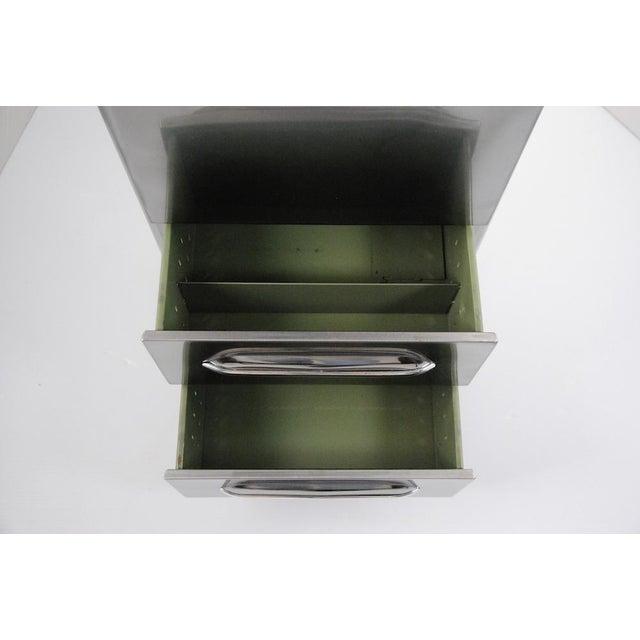 1940's Jamestown Polished Metal File Cabinet - Image 5 of 5