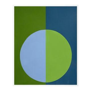 """""""Green & Blue Forever"""" Medium White Framed Print by Stephanie Henderson For Sale"""