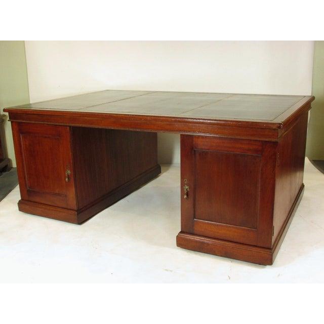 Edwardian 1900s Edwardian Partners Desk For Sale - Image 3 of 13