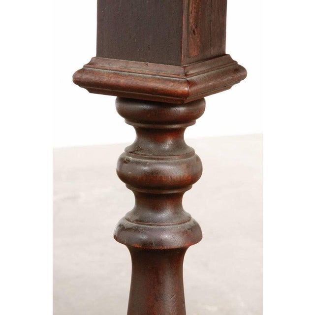 19th Century English Walnut Refectory or Console Table For Sale - Image 11 of 13