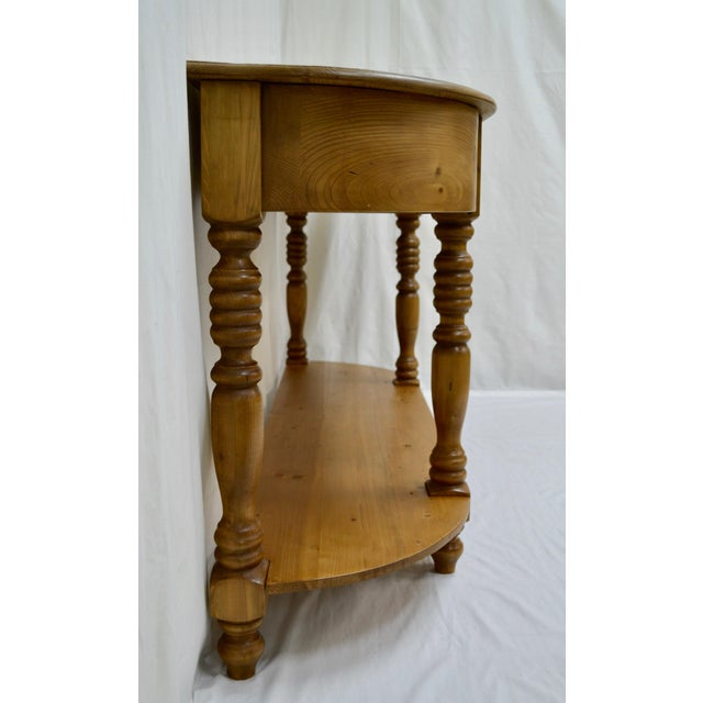 Vintage English Style Pine D-End Server For Sale - Image 4 of 9