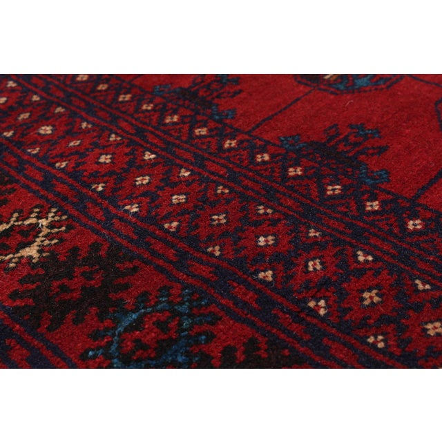 """Hand-Knotted Afghan Rug - 7'0"""" X 9'8"""" - Image 2 of 2"""