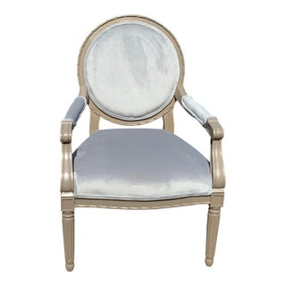 Country French Lounge Chair For Sale