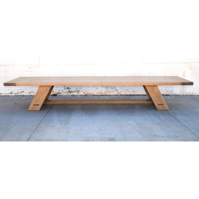 Rustic Banquet Table Made From Rift Sawn White Oak For Sale - Image 4 of 13