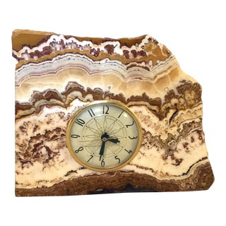 Lanshire Vintage Marble Slab Clock For Sale