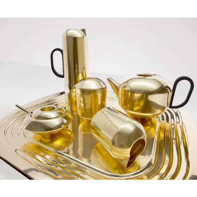 A sugar dish completes the British tea set; an essential accessory for the afternoon Tea ceremony. Made from spun brass...
