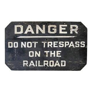 Danger Railroad Sign For Sale