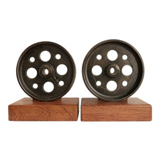 Industrial Caster Bookends For Sale