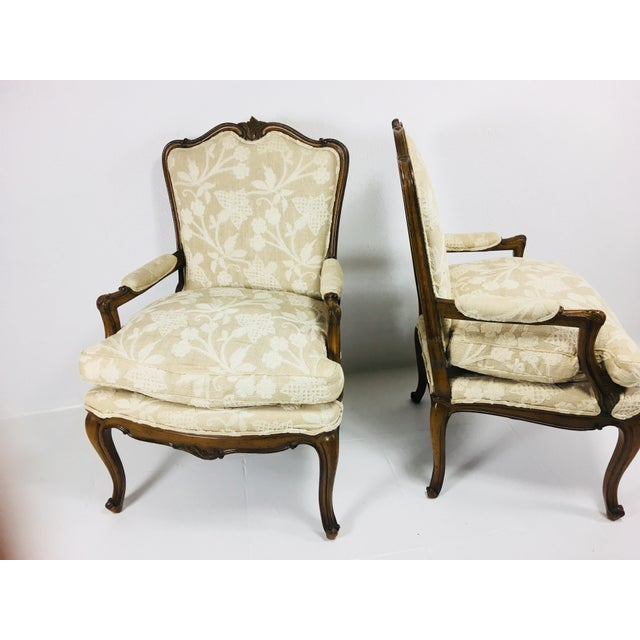 1970s Mid Century Meijer Gunther Martini French Country Style Chairs - a Pair For Sale - Image 5 of 13