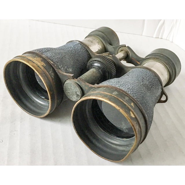 Fantastic pair of antique Victorian era as-found mixed metal and brass binoculars or opera glasses with original...