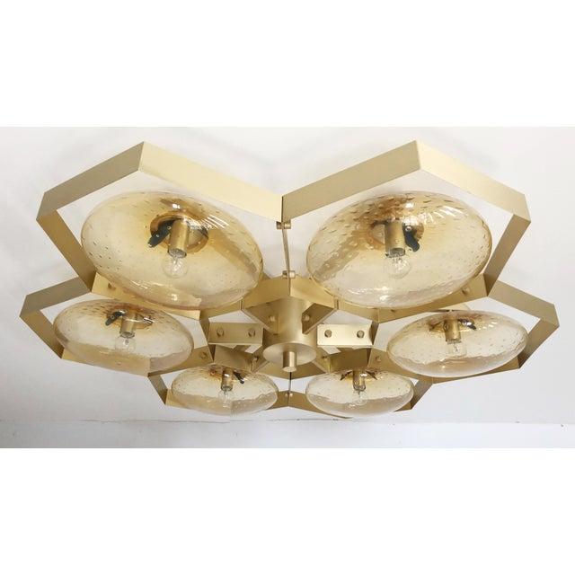 Metal Hive Flush Mount by Fabio Ltd For Sale - Image 7 of 13