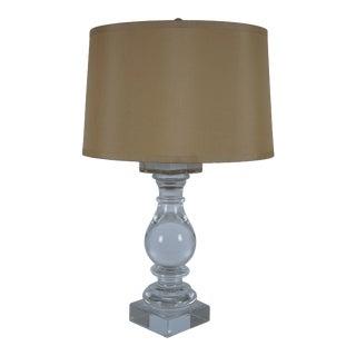 Restoration Hardware Modern Crystal Banister Table Lamp Baluster Light Glass For Sale