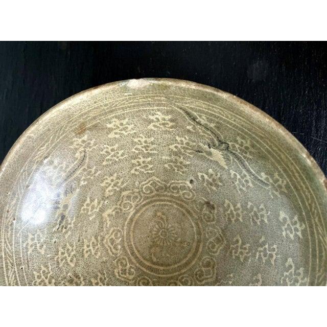 Korean Ceramic Celadon Bowl with Slip Inlay Goryeo Dynasty For Sale In Atlanta - Image 6 of 13