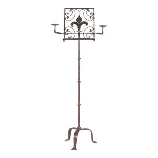 19th Century French Iron Music Stand For Sale