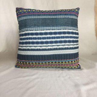 Kim Salmela Embroidered Indigo Pillow Preview