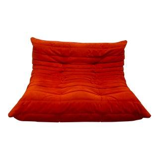 Orange Ligne Roset Togo Sectional Loveseat
