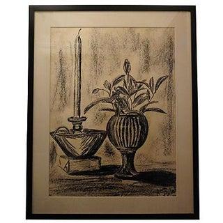 Ann Pollock Still Life Charcoal Drawing