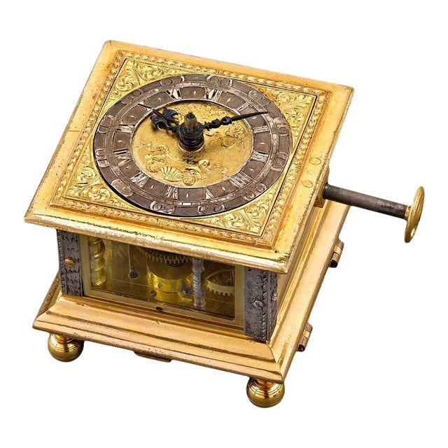 Renaissance Horizontal Table Clock For Sale