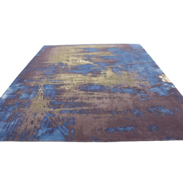 "Contemporary Abstract Scratch Texture Rug - 8'7"" x 9'11"" - Image 4 of 7"