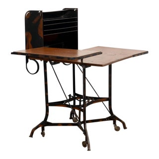 Early Industrial Rolling Desk by Toledo For Sale