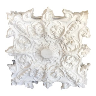 French Plaster Ceiling Medallion For Sale