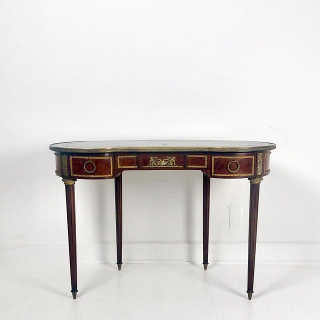 Green Louis XVI Style Desk Circa 1920 For Sale - Image 8 of 8