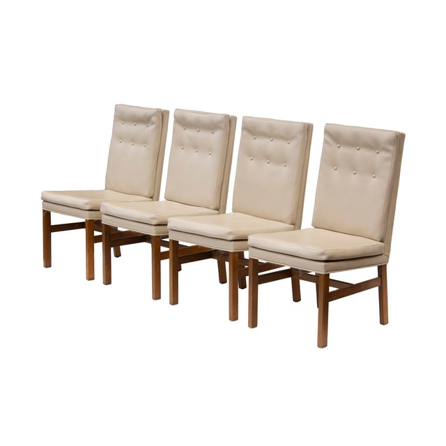 Johnson Chair Company Johnson Furniture Tufted Dining Chairs - Set of 4 For Sale - Image 4 of 12
