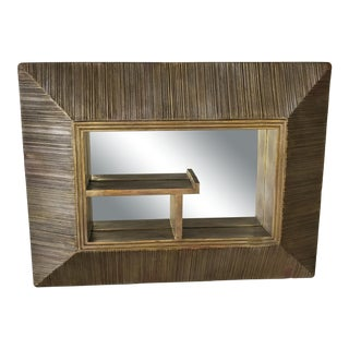Mid 20th Century Vintage Shadow Box Mirror With Shelves For Sale