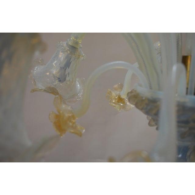 Murano Opaline Glass Floor Lamp For Sale - Image 9 of 10