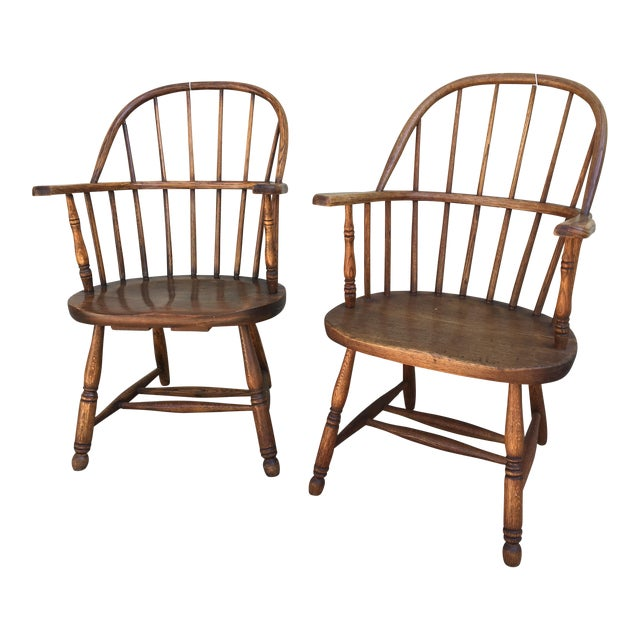 Windsor Bow Back Chairs - A Pair - Image 1 of 7
