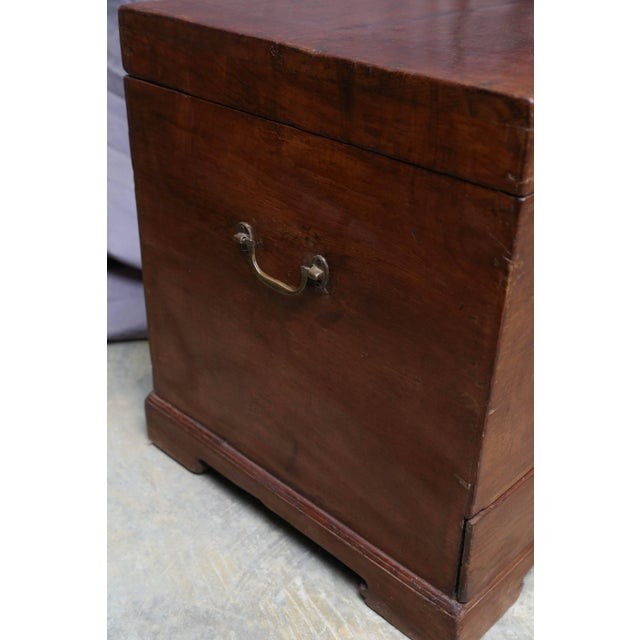 This custom-made teak wood box has two bottom drawers to keep jewelries and documents. It is made using handmade mortise...