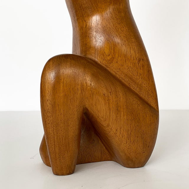 G. Lynch Carved Solid Wood Nude Abstract Sculpture For Sale - Image 10 of 13