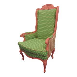 Louis XV Style Pink Painted Armchair For Sale