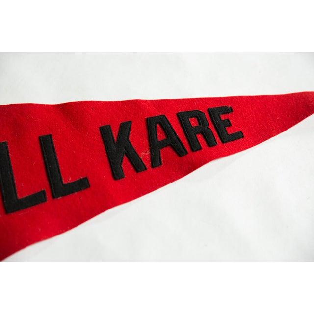Old New House Vintage Kamp Kill Kare Felt Flag Pennant For Sale - Image 4 of 6