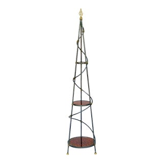 Gilbert Poillerat Attributed, Iron Three-Tier Plant Stand For Sale