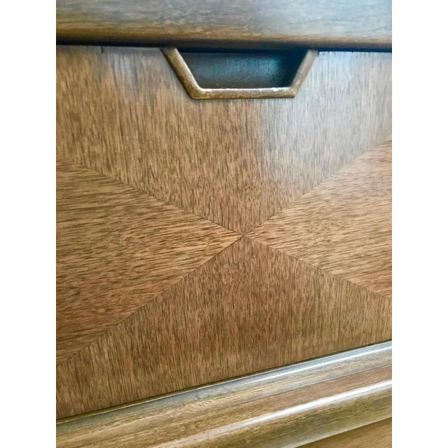 1960s Mid Century Modern Walnut Tall Chest-1960's For Sale - Image 5 of 7