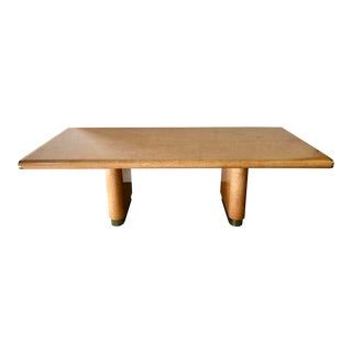 Burlwood & Brass Dining Table For Sale