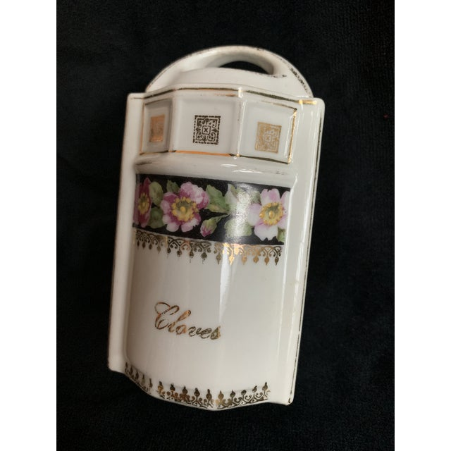 Vintage Art Nouveau/ Art Deco era spice/ condiments jars made by L & R Germany with a floral pattern. These are rare and...