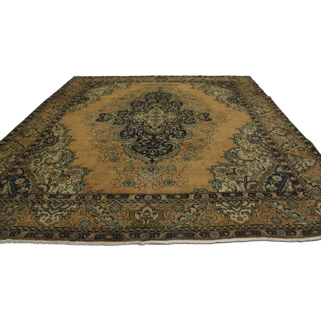 Vintage Persian Tabriz Rug With Neoclassical Glamour, 9'10 X 11'2 - Image 2 of 6