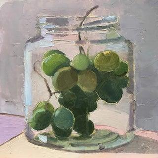 """""""Grapes in a Jar"""" Original Oil Painting"""