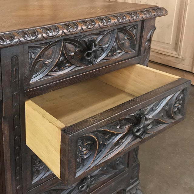 Antique French Gothic Parquet Top Desk For Sale - Image 12 of 13