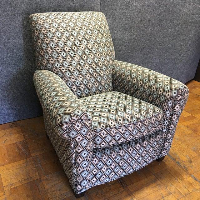 Ethan Allen Diamond Upholstered Sofa Chair - Image 2 of 7
