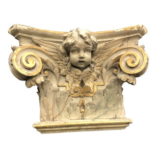 Mid 19th Century Baroque Plaster Capital For Sale